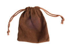 Brown pouch Stock Photo