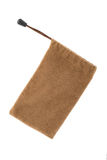 Brown pouch isolated on white background. With clipping paths Royalty Free Stock Photography