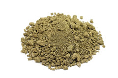 Brown powder dry clay Royalty Free Stock Photo