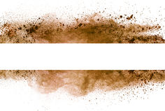 Brown powder stripe Stock Photos