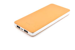 Brown power bank Stock Images