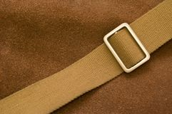 Brown pressed leather bag Royalty Free Stock Images