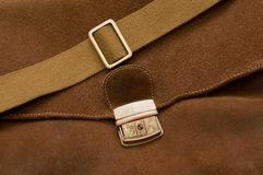 Brown pressed leather bag Stock Photos
