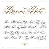 Brown Pride Tattoo Font Image stock
