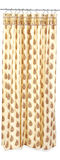 Brown print shower curtain Royalty Free Stock Photography