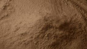 Brown proszek Nalewa W stos zdjęcie wideo