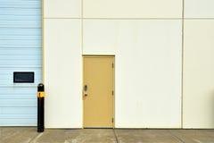 Brown Przemysłowy Stalowy Zewnętrzny drzwi Zdjęcie Royalty Free