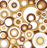 Brown Psychedelic Circles Stock Photos