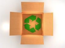 Brown pudełka przetwarzają Zdjęcia Royalty Free