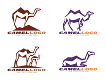 Brown and purple Camel abstract sharp logo vector design Royalty Free Stock Photos