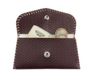 Brown purse Royalty Free Stock Photos