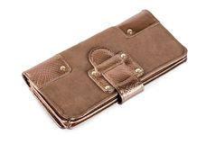 Brown purse Royalty Free Stock Photography
