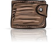 Brown  purse Stock Photography