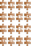 Brown puzle buttons Royalty Free Stock Photo