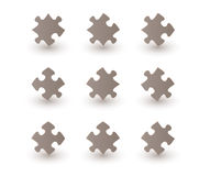 Brown puzzle pieces Royalty Free Stock Image