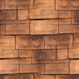 Brown pyramid  stone tile road seamless texture Royalty Free Stock Images