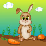 Brown Rabbit Character Royalty Free Stock Photography