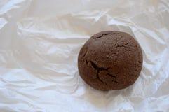 Brown rachou a cookie com chocolate líquido foto de stock royalty free