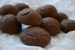 Brown rachou a cookie com chocolate líquido fotos de stock royalty free