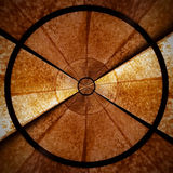 Brown Radial spiral abstract star pattern part 1 stock photo