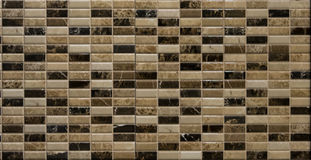 Brown random mosaic tiles. For interior Stock Photo