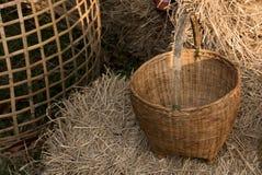 Brown Rattan basket Royalty Free Stock Photos