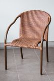 Brown rattan chair Stock Photo