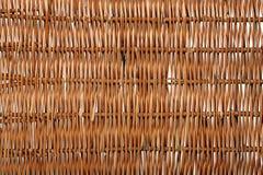 Brown rattan fibers background Royalty Free Stock Photos