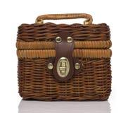 Brown Rattan Hand bag Stock Photo