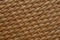 Brown rattan texture stock image