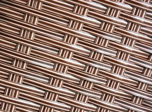 Brown rattan texture Royalty Free Stock Images