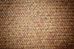 Brown rattan weave for textured background Stock Photography