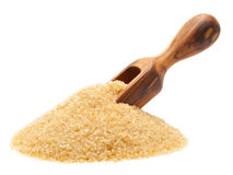 Brown raw cane sugar Royalty Free Stock Photos