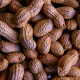 brown raw ground nuts shot for selling royalty free stock images