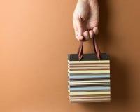 Brown rayó el bolso del regalo Imagen de archivo libre de regalías
