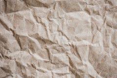 Brown recicla o fundo de papel amarrotado da textura Fotografia de Stock