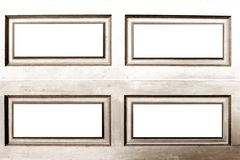 Brown rectangle frame Stock Images
