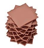 Brown rectangular chocolate slabs pyramid Stock Photo
