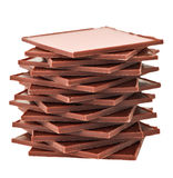 Brown rectangular chocolate slabs pyramid Stock Images