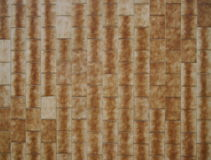Brown rectangular tile cladding Stock Photography