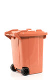 A brown recycle bin Royalty Free Stock Photography