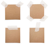 Brown recycle note paper Royalty Free Stock Image