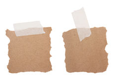 Brown recycle note paper Stock Photography