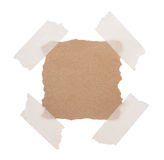 Brown recycle note paper Stock Image