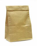 Brown recycle paper bag. Brown paper bag isolated over white background Royalty Free Stock Photos