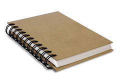Brown recycle paper cover notebook isolated Stock Image