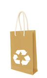 Brown recycle paper shopping bag Royalty Free Stock Image