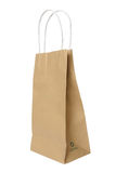 Brown recycle paper shopping bag clipping path. Royalty Free Stock Photo
