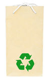 Brown recycle paper shopping bag Stock Image