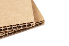 Brown recycled carton Royalty Free Stock Images